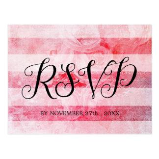 Carte postale rustique du vieux rose rose