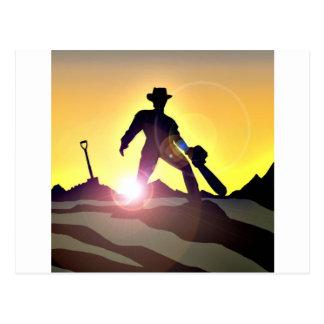 Carte Postale RWAC : Pelle de tronçonneuse de cowboy