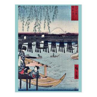 Carte Postale Ryogoku dans la capitale orientale par Ando,