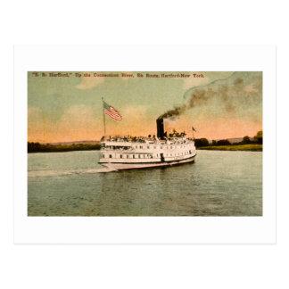 Carte Postale S.S. Hartford vers le haut du fleuve Connecticut