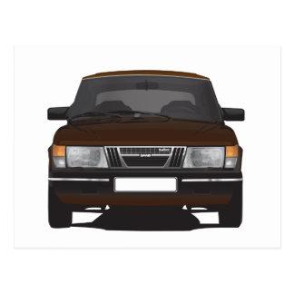 Carte Postale Saab 900 turbo (brun)