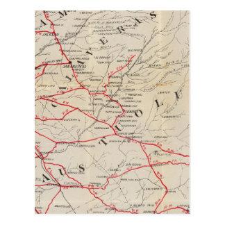 Carte Postale Sacramento, Amador, Calaveras, San Joaquin