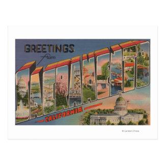 Carte Postale Sacramento, scènes de lettre de CaliforniaLarge