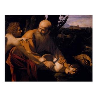 Carte Postale Sacrifice de Caravaggio- d'Isaac