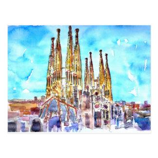 Carte Postale Sagrada Familia Barcelone