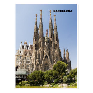 Carte Postale Sagrada Familia Barcelone Espagne