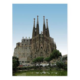 Carte Postale Sagrada Familia, Barcelone, Espagne