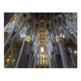 Carte Postale Sagrada Familia. Intérieurs. calendrier 2014