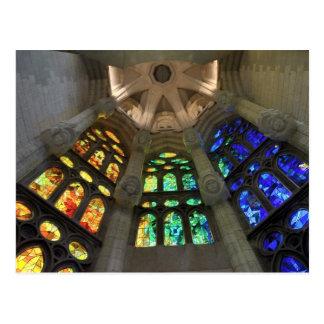 Carte Postale Sagrada Familia. Intérieurs. calendrier 2015