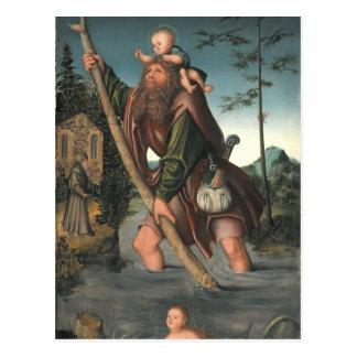 Carte Postale Saint Christopher par Hieronymus Bosch
