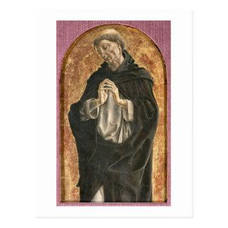 Carte Postale Saint Dominique (tempera sur le panneau)