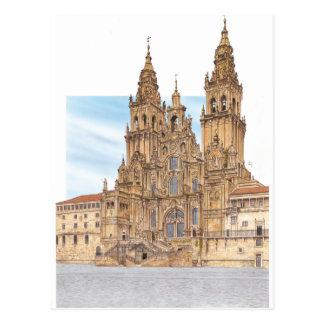 Carte Postale Saint-Jacques-de-Compostelle. Façade occidental.