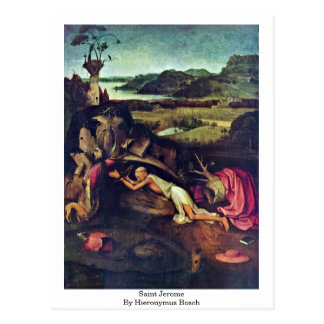 Carte Postale Saint Jerome. Par Hieronymus Bosch