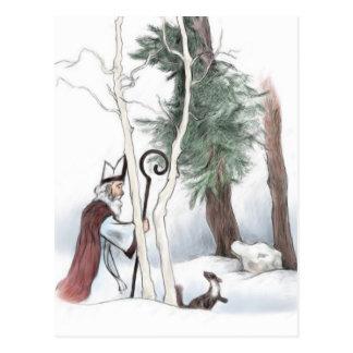 Carte Postale Saint-Nicolas et le martre de pin