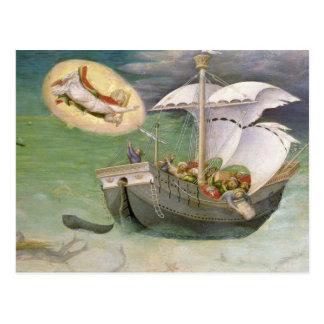 Carte Postale Saint-Nicolas sauve un bateau de l'épave