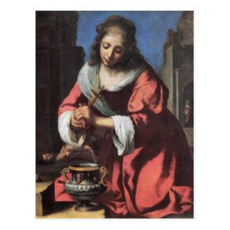 Carte Postale Saint Praxedis par Johannes Vermeer