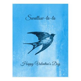 Carte Postale Saint-Valentin vilaine de La-La d'hirondelle