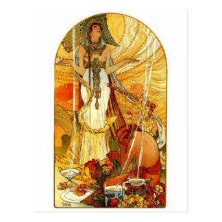 Carte Postale Salammbo par Alphonse Mucha