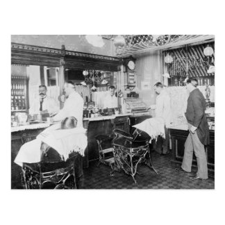Carte Postale Salon de coiffure de New York City, 1895