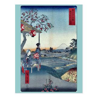 Carte Postale Salon de thé de Fujimi chez Zoshigaya par Ando,