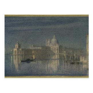 Carte Postale Salut Santa Maria Della, Venise, clair de lune,