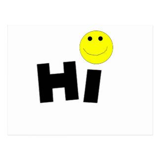 Carte Postale Salut (visage souriant)