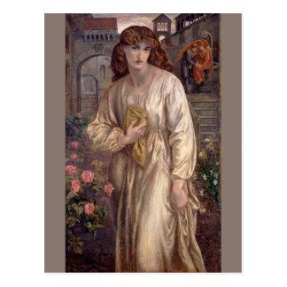Carte Postale Salutation de Béatrice par Dante Gabriel Rossetti