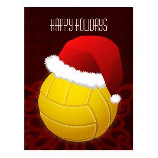 Carte Postale salutation de vacances de joueur de volleyball