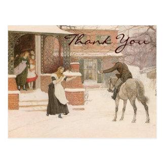 Carte Postale Salutation du facteur par Robert Macbeth, Merci