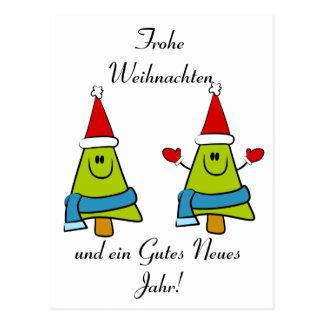 Carte Postale Salutations allemandes de Noël