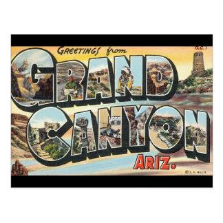 Carte Postale Salutations d'affiche grande de voyage de