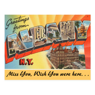 Carte Postale Salutations d'Albany