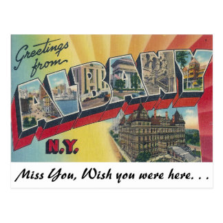 Carte Postale Salutations d'Albany, New York