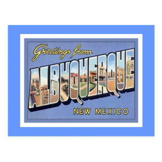 Carte Postale Salutations d'Albuquerque, Nouveau Mexique