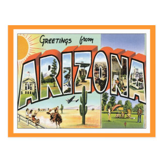 Carte Postale Salutations d'Arizona