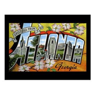 Carte Postale Salutations d'Atlanta la Géorgie