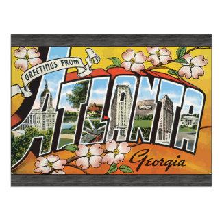 Carte Postale Salutations d'Atlanta la Géorgie, cru