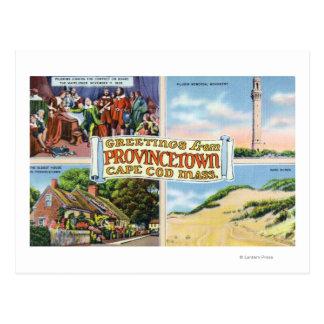 Carte Postale Salutations de avec des scènes pittoresques