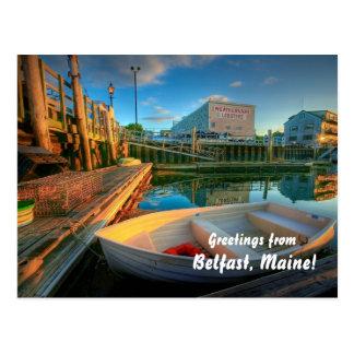 Carte Postale Salutations de Belfast Maine !