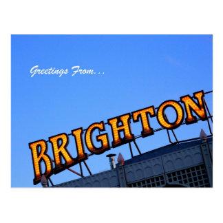 Carte Postale Salutations de BRIGHTON