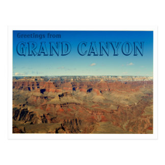 Carte Postale Salutations de canyon grand