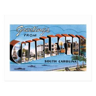 Carte Postale Salutations de Charleston, la Caroline du Sud !