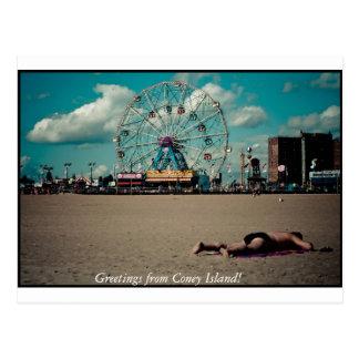 Carte Postale Salutations de Coney Island !