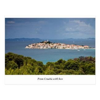 Carte Postale Salutations de Croatie, Primosten