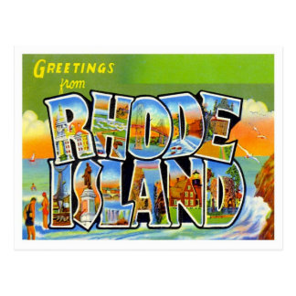 Carte Postale Salutations de cru d'Île de Rhode