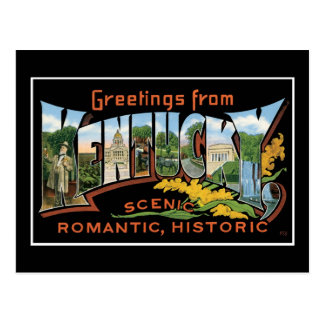 Carte Postale Salutations de cru romantique historique du