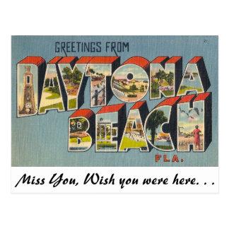Carte Postale Salutations de Daytona Beach, la Floride