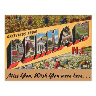 Carte Postale Salutations de Durham