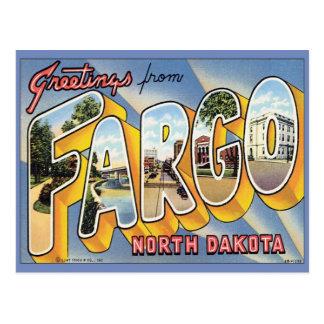 Carte Postale Salutations de Fargo le Dakota du Nord
