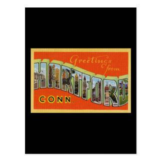 Carte Postale Salutations de Hartford le Connecticut